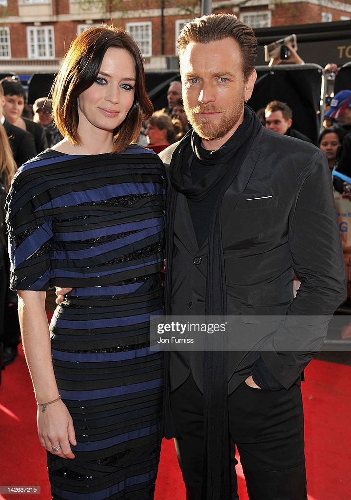 Actors Emily Blunt and Ewan McGregor attend the 'Salmon Fishing in the Yemen' European Premiere at the Odeon Kensington on April 10 2012 in London...