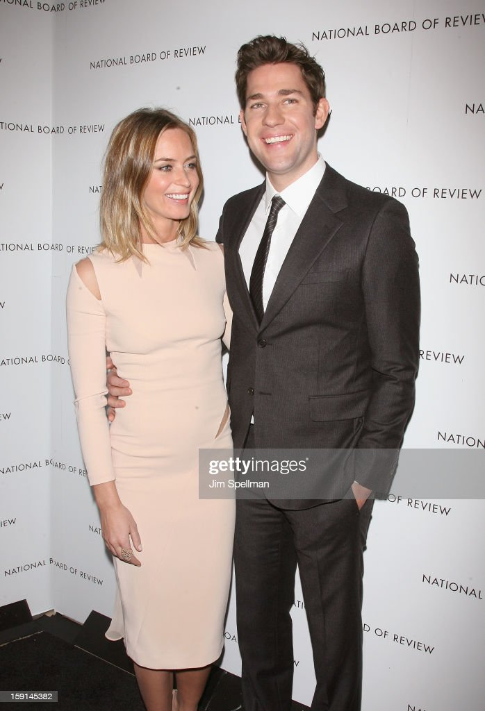 Actors Emily Blunt and John Krasinski attend the 2013 National Board Of Review Awards Gala at Cipriani Wall Street on January 8, 2013 in New York City.