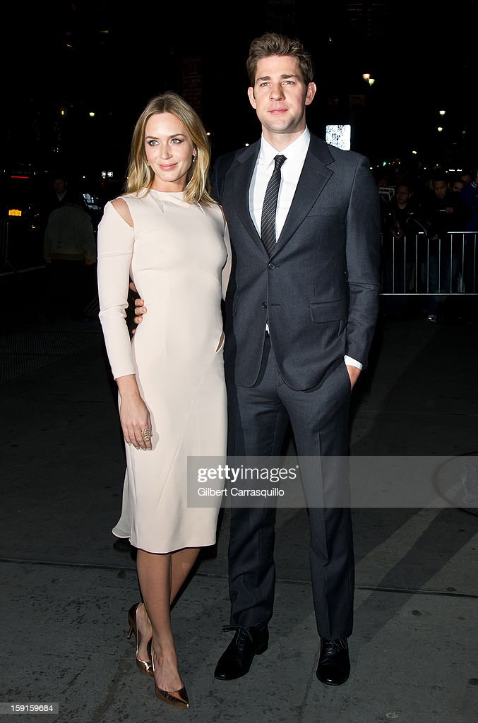 Actors Emily Blunt and John Krasinski attend the 2013 National Board Of Review Awards at Cipriani 42nd Street on January 8, 2013 in New York City.