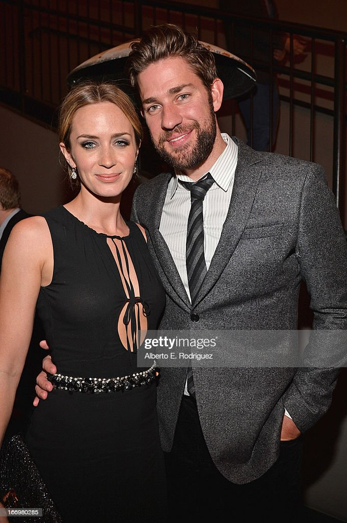 Actors <a gi-track='captionPersonalityLinkClicked' href=/galleries/search?phrase=Emily+Blunt&family=editorial&specificpeople=213480 ng-click='$event.stopPropagation()'>Emily Blunt</a> and <a gi-track='captionPersonalityLinkClicked' href=/galleries/search?phrase=John+Krasinski&family=editorial&specificpeople=646194 ng-click='$event.stopPropagation()'>John Krasinski</a> attend the after party for the premiere of Cinedigm's 'Arthur Newman' at on April 18, 2013 in Hollywood, California.