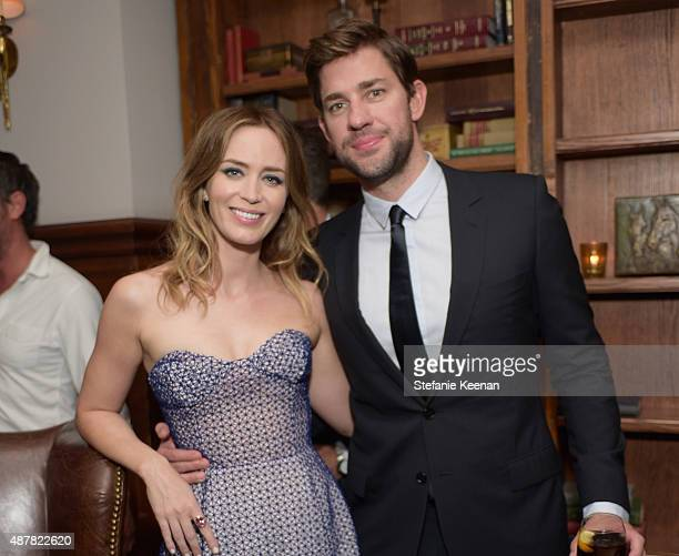 Actors Emily Blunt and John Krasinski attend the Sicario TIFF party hosted by GREY GOOSE Vodka and Soho Toronto at Soho House Toronto on September 11...