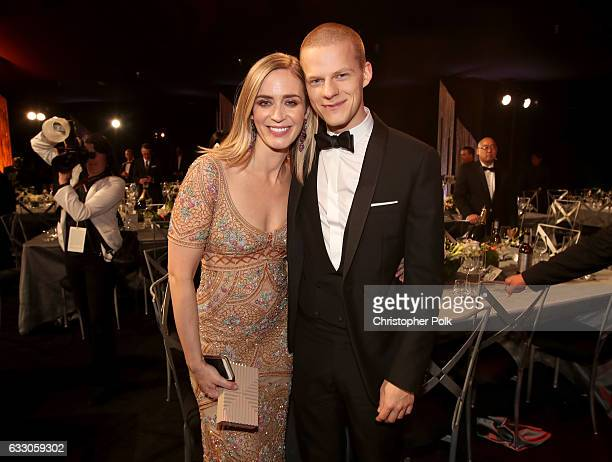 Actors Emily Blunt and Lucas Hedges during The 23rd Annual Screen Actors Guild Awards at The Shrine Auditorium on January 29 2017 in Los Angeles...