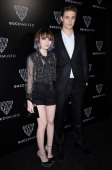 Actors Emily Browning and Max Irons attend the Gucci Museum opening on September 26 2011 in Florence Italy