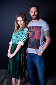 Actors Emily Browning and Tom Hardy from 'Legend' pose for a portrait during the 2015 Toronto International Film Festival at the TIFF Bell Lightbox...