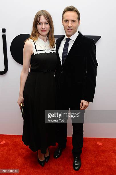 Actors Emily Mortimer and Alessandro Nivola attend Jazz at Lincoln Center's Ertegun Atrium and Ertegun Hall of Fame grand reopening at Jazz at...