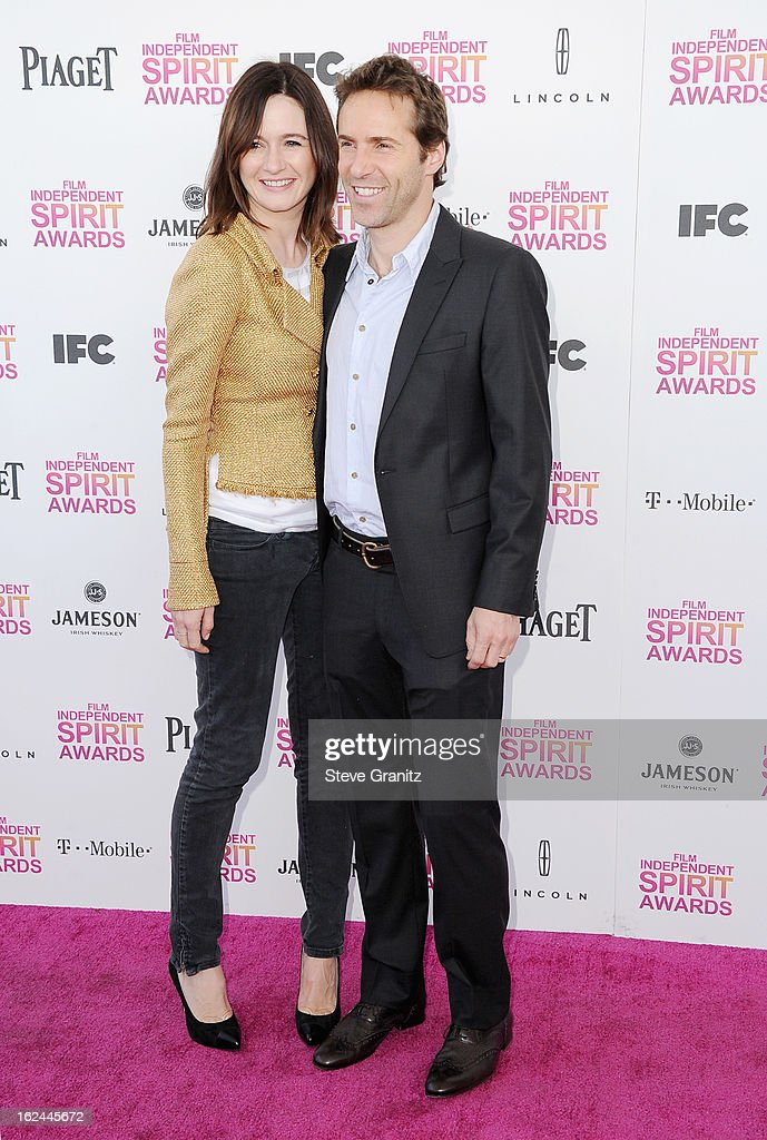 Actors Emily Mortimer and Alessandro Nivola attend the 2013 Film Independent Spirit Awards at Santa Monica Beach on February 23, 2013 in Santa Monica, California.