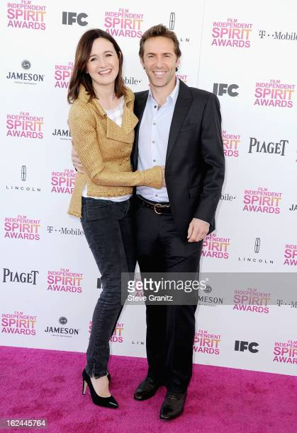 Actors Emily Mortimer and Alessandro Nivola attend the 2013 Film Independent Spirit Awards at Santa Monica Beach on February 23 2013 in Santa Monica...