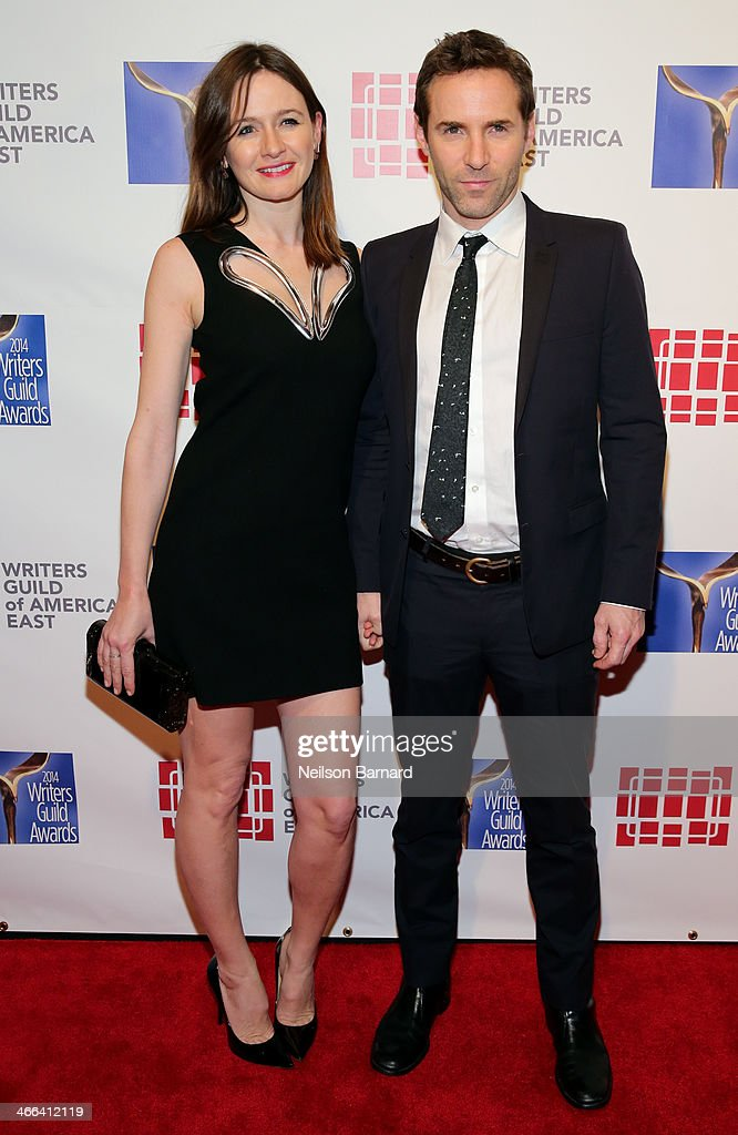 Actors <a gi-track='captionPersonalityLinkClicked' href=/galleries/search?phrase=Emily+Mortimer&family=editorial&specificpeople=202561 ng-click='$event.stopPropagation()'>Emily Mortimer</a> and <a gi-track='captionPersonalityLinkClicked' href=/galleries/search?phrase=Alessandro+Nivola&family=editorial&specificpeople=240468 ng-click='$event.stopPropagation()'>Alessandro Nivola</a> attend The 66th Annual Writers Guild Awards East Coast Ceremony at The Edison Ballroom on February 1, 2014 in New York City.