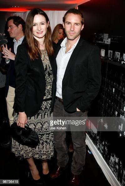 Actors Emily Mortimer and Alessandro Nivola attend the Flagship Opening celebration on New York's Famed Fifth Avenue at Sunglass Hut on April 28 2010...