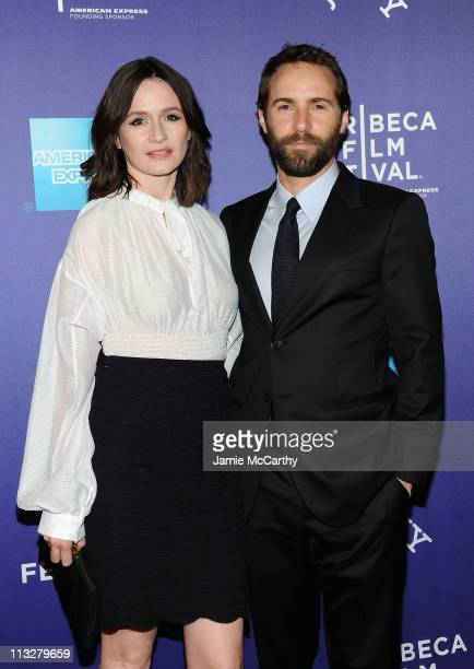 Actors Emily Mortimer and Alessandro Nivola attend the premiere of 'Janie Jones' during the 10th annual Tribeca Film Festival at SVA Theater on April...
