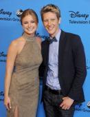 Actors Emily VanCamp and Gabriel Mann arrive at the 2013 Disney/ABC Television Critics Association's summer press tour party at The Beverly Hilton...