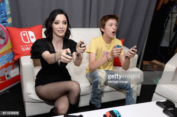 Actors Emma Dumont and Percy Hynes White stopped by Nintendo at the TV Insider Lounge to check out Nintendo Switch during ComicCon International at...