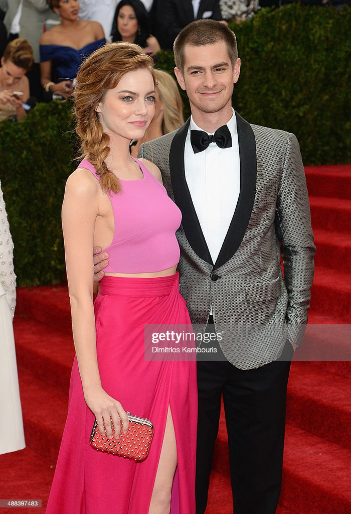 Actors Emma Stone and Andrew Garfield attends the 'Charles James: Beyond Fashion' Costume Institute Gala at the Metropolitan Museum of Art on May 5, 2014 in New York City.