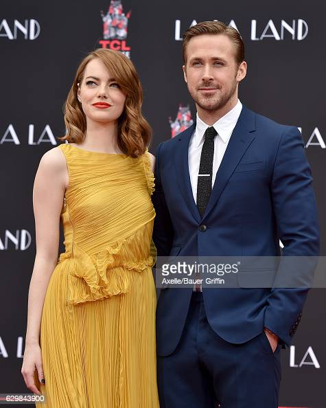 Actors Emma Stone and Ryan Gosling are honored with a Hand and Footprint Ceremony on behalf of Lionsgate's La La Land at TCL Chinese Theatre IMAX on...