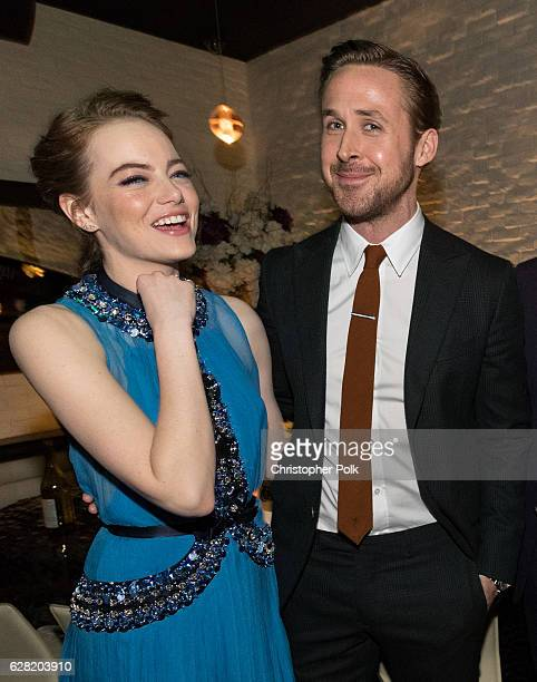 Actors Emma Stone and Ryan Gosling attend the after party of Lionsgate's 'La La Land' on December 6 2016 in Westwood California