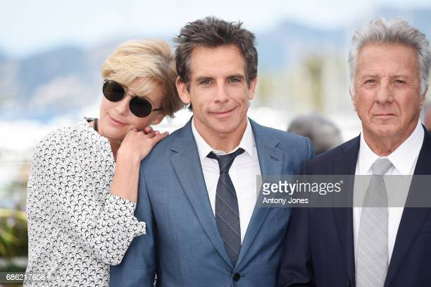 Actors Emma Thompson Ben Stiller and Dustin Hoffman attend 'The Meyerowitz Stories' photocall during the 70th annual Cannes Film Festival at Palais...