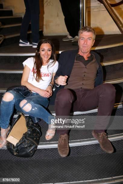 Actors Emmanuelle Boidron and Philippe Caroit attend the 'Vive la Crise' Paris Premiere at Cinema Max Linder on May 2 2017 in Paris France