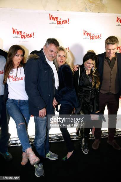 Actors Emmanuelle Boidron JeanMarie Bigard Florence Thomassin Angelique Litzenburger and Philippe Caroit attend the 'Vive la Crise' Paris Premiere at...