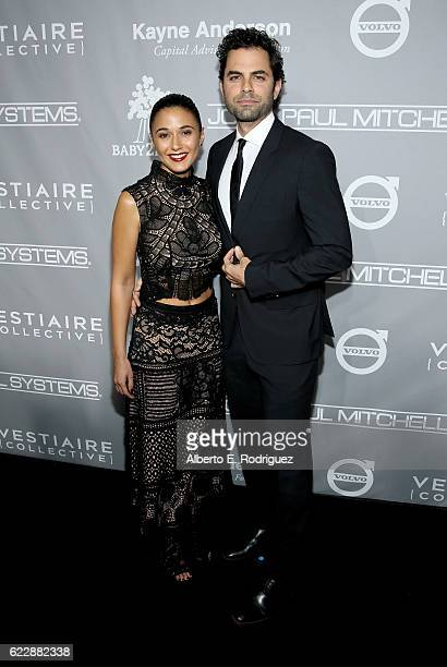 Actors Emmanuelle Chriqui and Adrian Bellani attend the 5th Annual Baby2Baby Gala at 3LABS on November 12 2016 in Culver City California