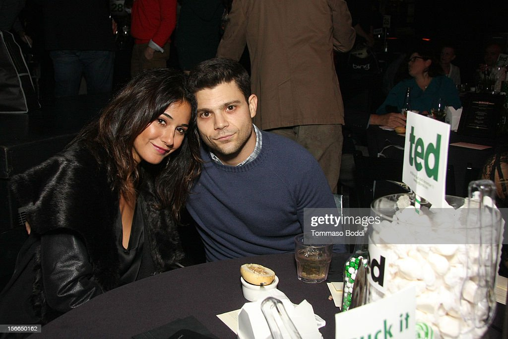 Actors Emmanuelle Chriqui (L) and Jerry Ferrara attend Variety's 3rd annual Power of Comedy event presented by Bing benefiting the Noreen Fraser Foundation held at Avalon on November 17, 2012 in Hollywood, California.