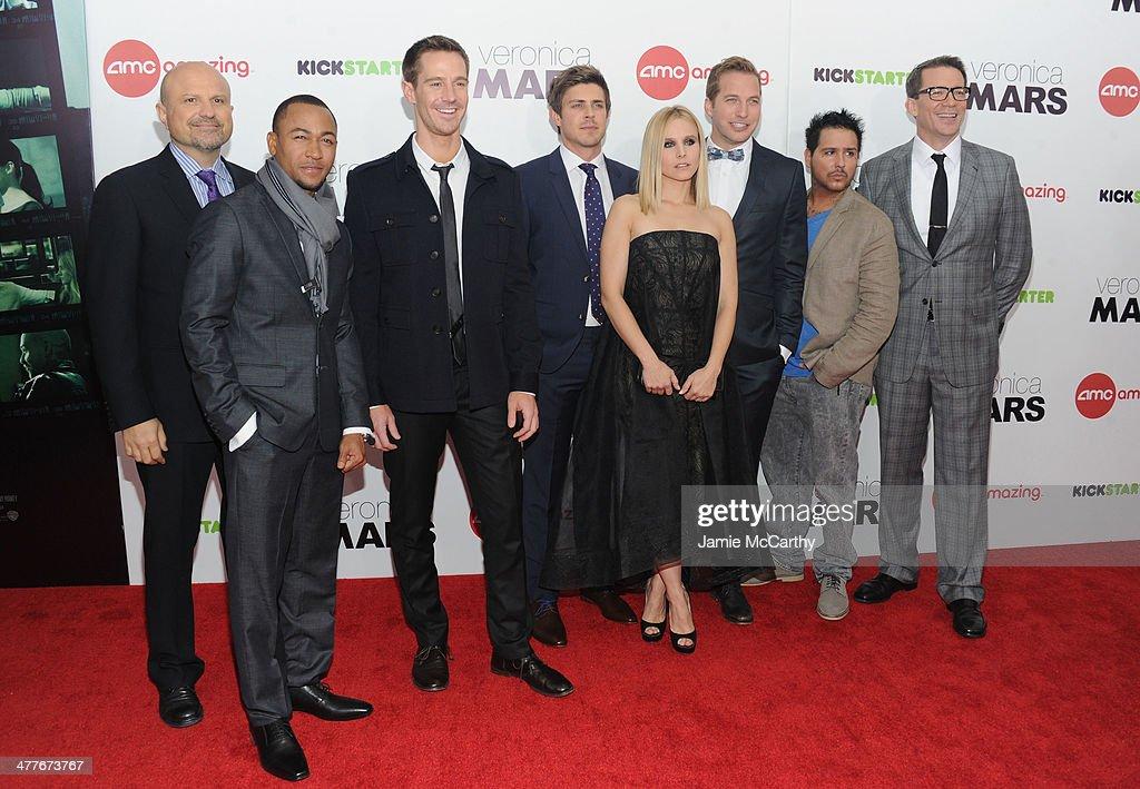 Actors Enrico Colantoni Percy Daggs III Jason Dohring Chris Lowell Kristen Bell Ryan Hansen Francis Capra and Director Rob Thomas attend the...