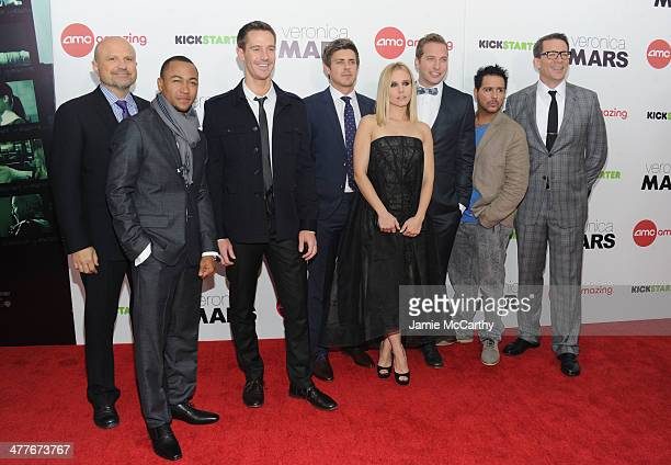 Actors Enrico Colantoni Percy Daggs III Jason Dohring Chris Lowell Kristen Bell Ryan Hansen Francis Capra and Director Rob Thomas attend the...