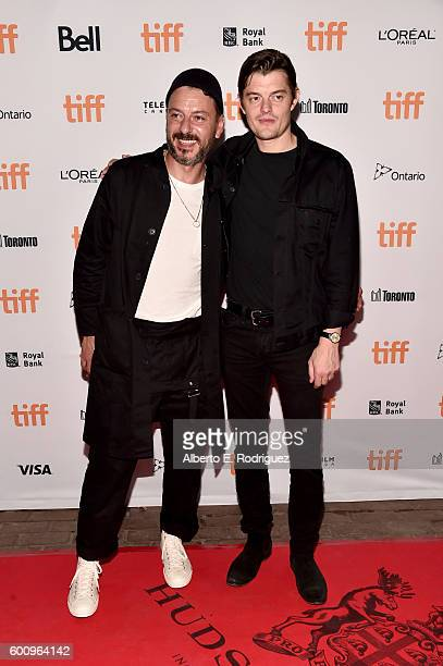 Actors Enzo Cilenti and Sam Riley attend the 'Free Fire' premiere screening party hosted by Bulleit at Early Mercy on September 8 2016 in Toronto...