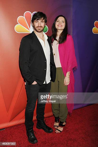 Actors Eoin Macken and Jill Flint attend the NBCUniversal 2015 Press Tour at the Langham Huntington Hotel on January 16 2015 in Pasadena California
