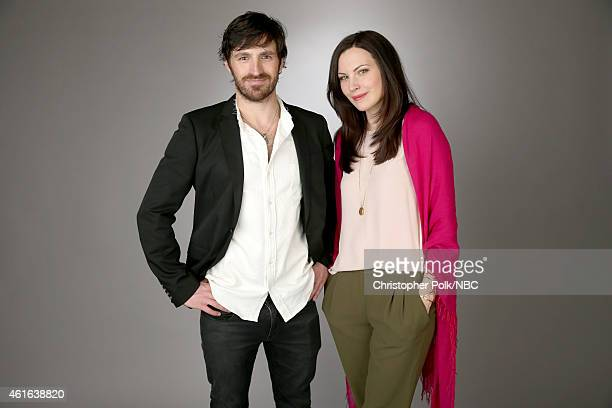 Actors Eoin Macken and Jill Flint of 'The Night Shift' pose for a portrait during the NBCUniversal TCA Press Tour at The Langham Huntington Pasadena...