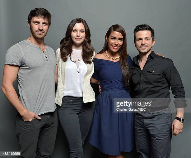 Actors Eoin Macken Jill Flint Daniella Alonso and Freddy Rodriguez pose for a portrait during the 2014 NBCUniversal Summer Press Day at The Langham...