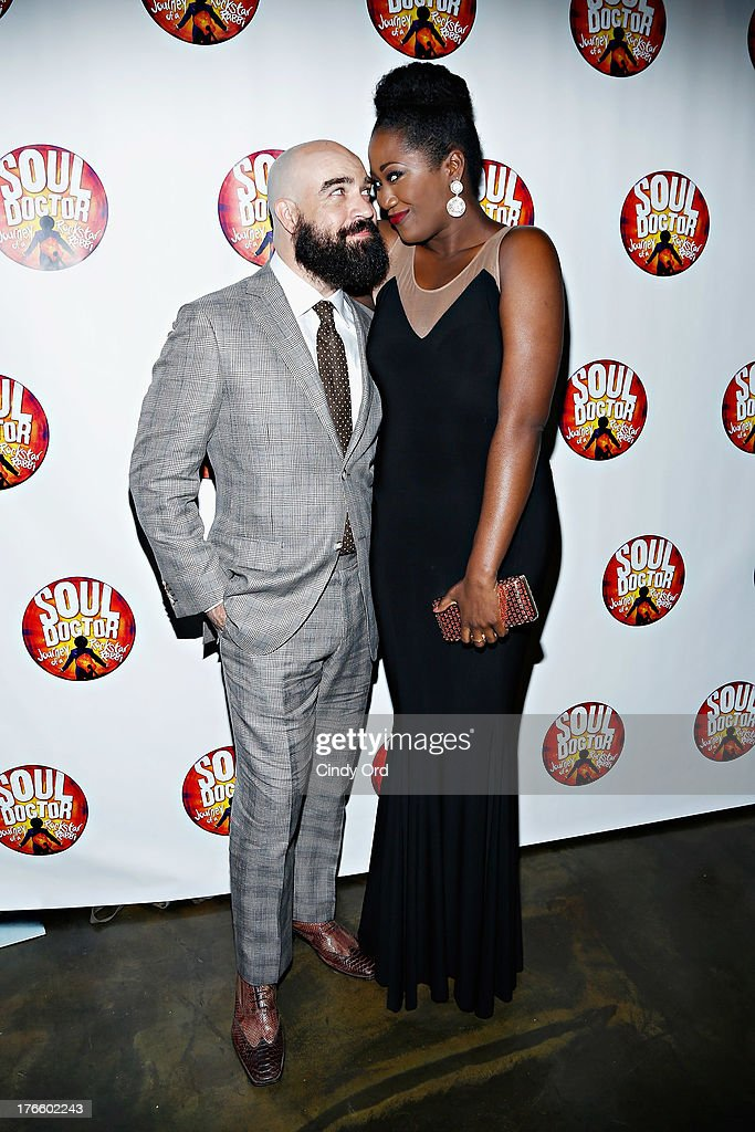 Actors Eric Anderson and Amber Iman attend the after party for the Broadway opening night of 'Soul Doctor' at the The Liberty Theatre on August 15, 2013 in New York City.