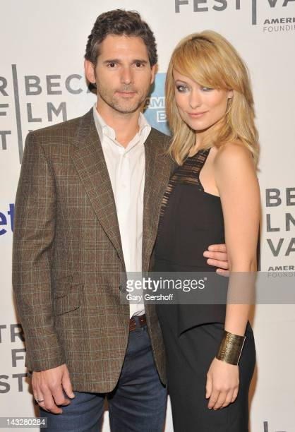 Actors Eric Bana and Olivia Wilde attend the premiere of 'Deadfall' during the 2012 Tribeca Film Festival at BMCC Tribeca PAC on April 22 2012 in New...