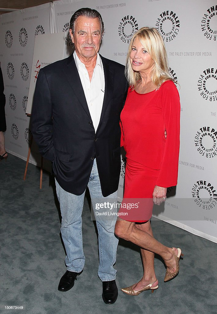 Actors <a gi-track='captionPersonalityLinkClicked' href=/galleries/search?phrase=Eric+Braeden&family=editorial&specificpeople=206325 ng-click='$event.stopPropagation()'>Eric Braeden</a> (L) and Roberta Leighton attend The Paley Center for Media presentation of 'The Young and the Restless: Celebrating 10,000 Episodes' at The Paley Center for Media on August 23, 2012 in Beverly Hills, California.