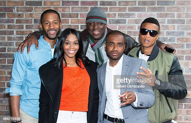 Actors Eric D Hill Jr Nafessa Williams Entertainment promoter/recording artist manager Charlie Mack director Jamal Hill and actor Cory Hardrict visit...