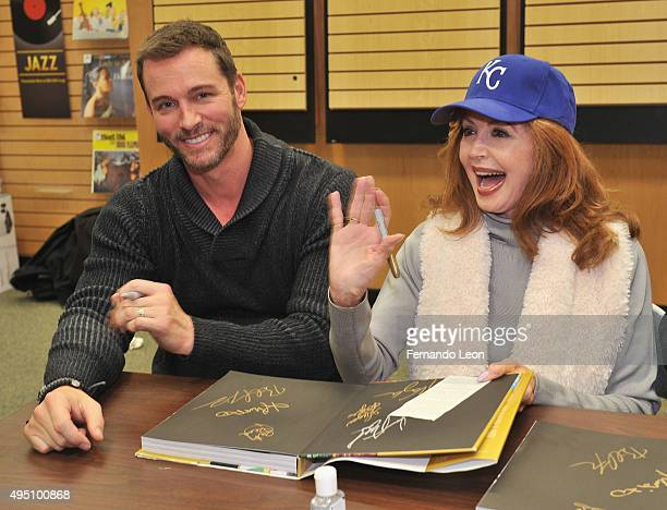 Actors Eric Martsolf and Suzanne Rogers greet their fans during the Days Of Our Lives book signing at the Oak Park Mall Barnes And Noble on October...