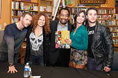 Actors Eric Martsolf Meredith Scott Lynn James Reynolds Camila Banus and Casey Moss attend the Days Of Our Lives Book Signing at Changing Hands Book...