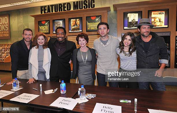 Actors Eric Martsolf Suzanne Rogers James Reynolds Patsy Pease Billy Flynn Kate Mansi and Greg Vaughan attend the Days Of Our Lives book signing at...