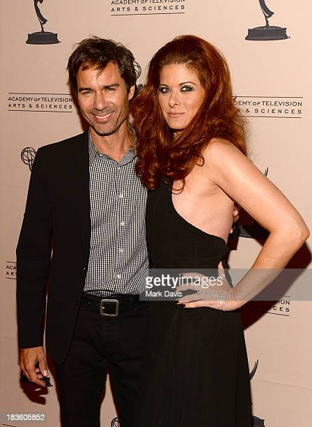Actors Eric McCormack and Debra Messing attend The Academy Of Television Arts Sciences' Presents An Evening Honoring James Burrows held at the...