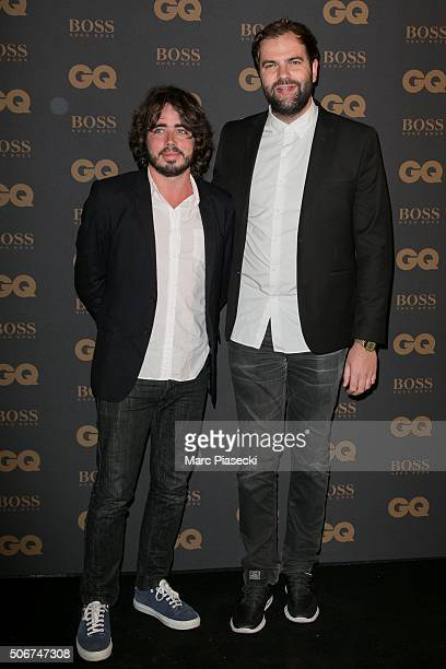 Actors Eric Metzger and Quentin Margot attend the 'GQ Men Of The Year Awards 2015' as part of Paris Fashion Week on January 25 2016 in Paris France