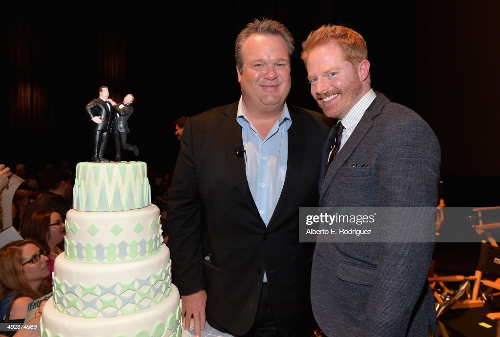 Actors <a gi-track='captionPersonalityLinkClicked' href=/galleries/search?phrase=Eric+Stonestreet&family=editorial&specificpeople=6129010 ng-click='$event.stopPropagation()'>Eric Stonestreet</a> and <a gi-track='captionPersonalityLinkClicked' href=/galleries/search?phrase=Jesse+Tyler+Ferguson&family=editorial&specificpeople=633114 ng-click='$event.stopPropagation()'>Jesse Tyler Ferguson</a> attend a 'Modern Family' Wedding episode screening at Zanuck Theater at 20th Century Fox Lot on May 19, 2014 in Los Angeles, California.