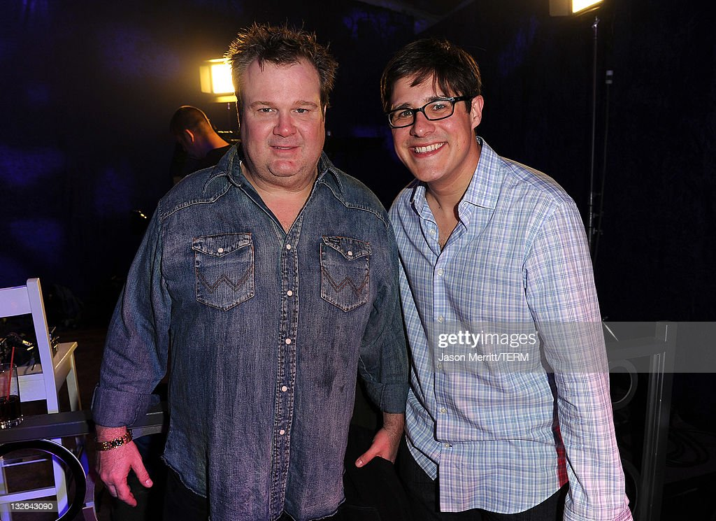 Actors Eric Stonestreet (L) and Rich Sommer attend UFC on Fox: Live Heavyweight Championship at the Honda Center on November 12, 2011 in Anaheim, California.