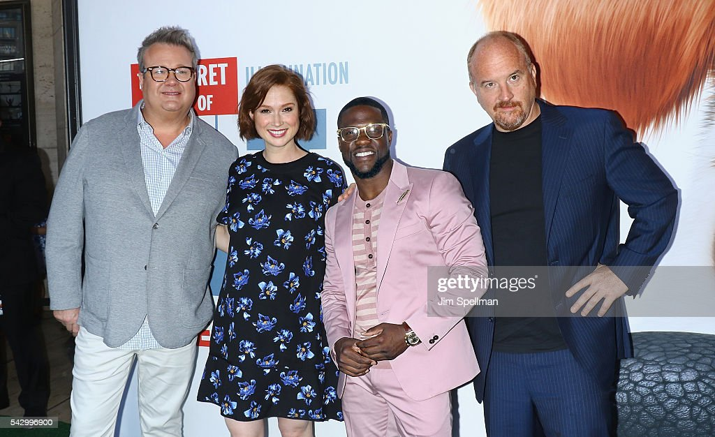 Actors Eric Stonestreet, Ellie Kemper, Kevin Hart and Louis C.K. attend the 'Secret Life Of Pets' New York premiere on June 25, 2016 in New York City.