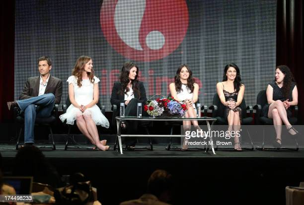 Actors Eric Winter Rachel Boston Julia Ormond Jenna DewanTatum and Madchen Amick and Executive Producer Maggie Friedman speak onstage during the...