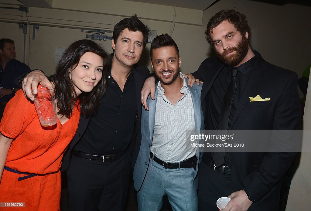 Actors Erica Oyama, <a gi-track='captionPersonalityLinkClicked' href=/galleries/search?phrase=Ken+Marino&family=editorial&specificpeople=2979469 ng-click='$event.stopPropagation()'>Ken Marino</a>, <a gi-track='captionPersonalityLinkClicked' href=/galleries/search?phrase=Jai+Rodriguez+-+Actor&family=editorial&specificpeople=202956 ng-click='$event.stopPropagation()'>Jai Rodriguez</a> and Harley Morenstein attend the 3rd Annual Streamy Awards at Hollywood Palladium on February 17, 2013 in Hollywood, California.