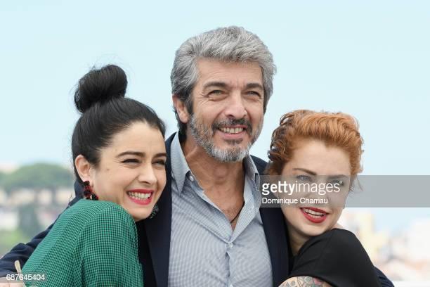 Actors Erica Rivas Ricardo Darin and Dolores Fonzi attend the 'La Cordillera El Presidente' photocall during the 70th annual Cannes Film Festival at...