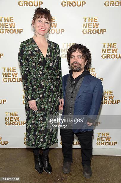 Actors Erica Schmidt and Peter Dinklage attend the 2016 New Group Gala at the Tribeca Rooftop on March 7 2016 in New York City