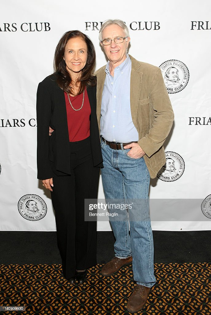 Actors Erin Gray and Joel Higgins attend So You Think You Can Roast? at the New York Friars Club on March 1, 2013 in New York City.
