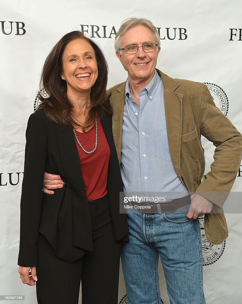 Actors Erin Gray (L) and John Higgins attend The Friars Club: 'So You Think You Can Roast?' Celebrating Ricky Schroder at New York Friars Club on March 1, 2013 in New York City.