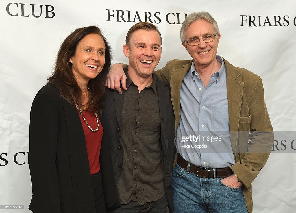 Actors Erin Gray, Ricky Schroder, and John Higgins attend The Friars Club: 'So You Think You Can Roast?' Celebrating Ricky Schroder at New York Friars Club on March 1, 2013 in New York City.