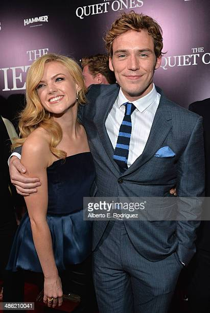 Actors Erin Richards and Sam Claflin arrives to the Los Angeles Premiere of Lionsgate Films' 'The Quiet Ones' at The Theatre At Ace Hotel on April 22...
